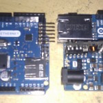 Pair of Arduino Ethernet, one with POE module