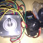Stepper motor and servo